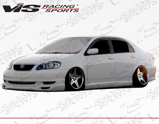 looking for 2003 2008 toyota corolla 4dr techno r front lip front lip best perf body kits depot